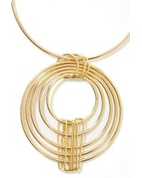 Nasty Gal - Metallic Circle Around Necklace - Lyst