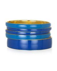 Piper Strand | Blue Enamel Bangles | Lyst