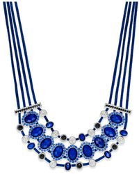 Style & Co. | Silver-tone Blue Jet Stone Four-row Suede Necklace | Lyst