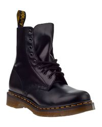 Dr. Martens | Black Pascal 8-Eye Leather Combat Boots | Lyst