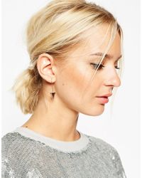 ASOS | Pink Clean Arrow Through Earrings | Lyst
