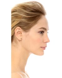 Rebecca Minkoff | Metallic #wrappedup Treat Front Back Hoop Earrings - Gold | Lyst