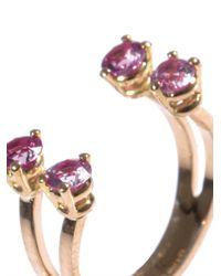 Delfina Delettrez | Pink Sapphire Gold Phalanx Ring | Lyst