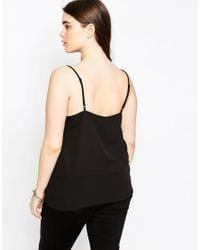 ASOS - Cami With Lace Detail - Black - Lyst