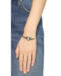 Pamela Love - Blue Reina Cuff Bracelet - Brass/turquoise - Lyst