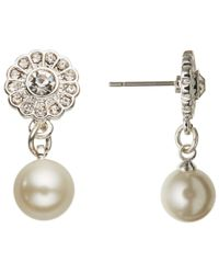 John Lewis | Metallic Silver Plated Flower Faux Pearl Necklace And Earrings Set | Lyst