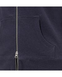 Sunspel - Blue Women's Loopback Cotton Hoody With Zip-front - Lyst