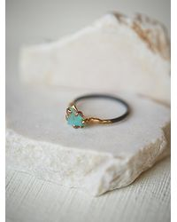 Free People - Multicolor Variance Objects Womens Raw Opal Ring - Lyst