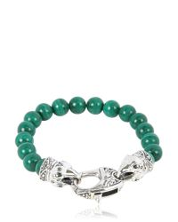 Stephen Webster | Green Raven Head Malachite Bracelet | Lyst