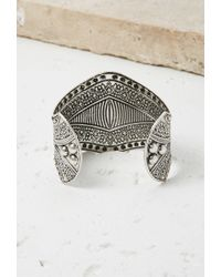 Forever 21 | Metallic Faux Stone Etched Cuff | Lyst
