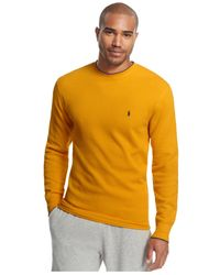 Polo Ralph Lauren | Metallic Men's Tipped Thermal Crew-neck Shirt for Men | Lyst