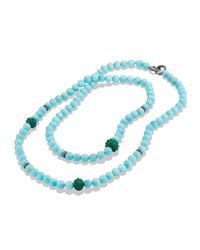 David Yurman - Osetra Necklace With Amazonite And Green Onyx - Lyst