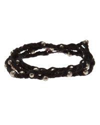 Spinelli Kilcollin | Black Braided Wrap Bracelet | Lyst