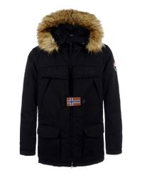 Napapijri | Black Mid-length Jacket for Men | Lyst
