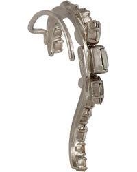 Vickisarge - Metallic Speakeasy Palladiumplated Swarovski Crystal Ear Cuff - Lyst