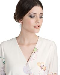 Ted Baker | Pink Bow Detail Earrings | Lyst