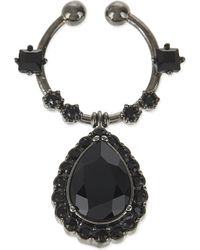 Givenchy | Black Jewel Drop Nose Ring | Lyst