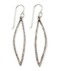 Alexis Bittar Fine | Gray Small Marquise-drop Brown Diamond Earrings | Lyst