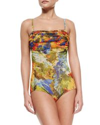 Jean Paul Gaultier - Multicolor Printed Ruched-Top One-Piece Swimsuit - Lyst