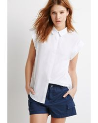 Forever 21 | Blue Utility Pocket Shorts | Lyst