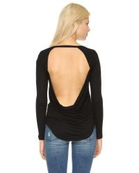 Chaser | Black Drape Back Tee - White | Lyst