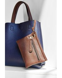 Urban Outfitters - Blue Mini Reversible Vegan Leather Tote Bag - Lyst