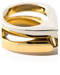 Chloé | Metallic Chloé Greta Double Ring | Lyst