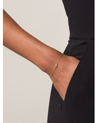 Ileana Makri - Metallic Mini Cross Bracelet - Lyst