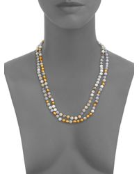 Chan Luu | Blue Lace Agate Long Beaded Necklace | Lyst