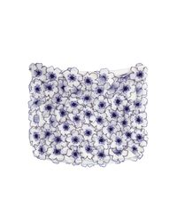 Vanessa Bruno | Purple Mini Skirt With Embellished Floral Appliqu | Lyst