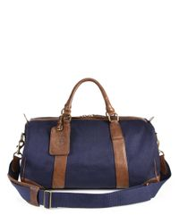 Polo Ralph Lauren Blue Waxed Twill Gym Bag for men