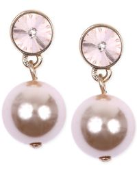 Givenchy | Pink Gold-tone Blush Imitation Pearl Drop Earrings | Lyst