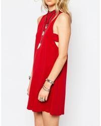 Glamorous   Blue Jersey Turtle Neck A-line Dress   Lyst