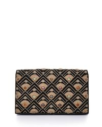 Fred Leighton | Brown Multi-stone Embroidered Minaudiere Evening Clutch Bag | Lyst