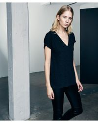 Lanston | Black Oversized V-neck Tee | Lyst