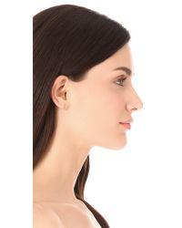 Jennifer Zeuner - Metallic Individual Number Earring - Four - Lyst
