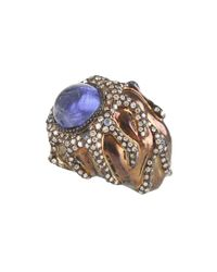 Arunashi - Blue Tanzanite And Diamond Ring - Lyst