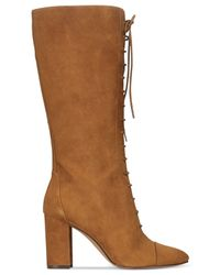 Nine West | Brown Waterfall Lace-up Boots | Lyst