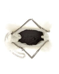 Stella McCartney - White Tiny Falabella Faux-Fur Shoulder Bag - Lyst
