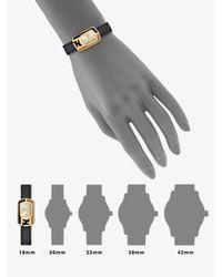 Fendi - Black Small Goldtone Ip Stainless Steel Enamel Watch - Lyst