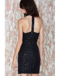 Nasty Gal - Black Vintage Night Owl Beaded Dress - Lyst