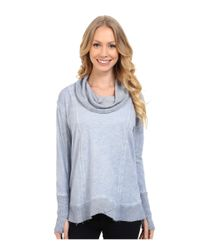 Miraclebody - Blue Teri Thermal Cowl W/ Body-shaping Inner Shell - Lyst