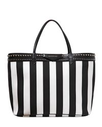 Givenchy   White Large Antigona Striped Coated Canvas Bag   Lyst