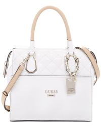 Guess | White Romeo Box Satchel | Lyst