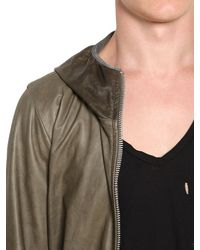 Giorgio Brato | Green Super Light Nappa Leather Hooded Jacket for Men | Lyst