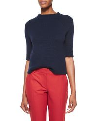 Theory | Blue Jodi B Half-sleeve Cashmere Sweater | Lyst