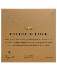 Dogeared | Metallic Infinite Love Pendant Necklace | Lyst