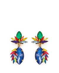 Erickson Beamon | Multicolor 'splash' Marquise Cut Crystal Drop Earrings | Lyst