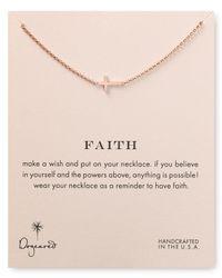 Dogeared - Pink Faith Necklace 18 - Lyst