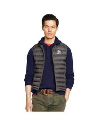 Ralph Lauren | Gray Water-repellent Down Vest for Men | Lyst
